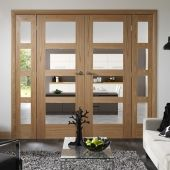 Internal Oak Easi Frame Room Dividers French Doors With Shaker 4 Light Or Pattern 10 Worcester Pairs At Very Special Prices Call Norwich 01603