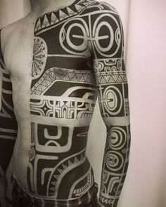 Reposting with nearly full scale.#tribaltattoo #blackwork by black_addicts