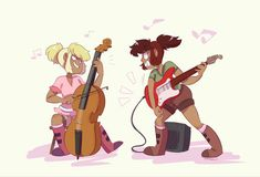 ooohhh actually i like this better the concept of gwen playing an electric guitar really angrily is just too rich
