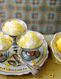 Lemon and limoncello granita - a gorgeously refreshing Italian dessert