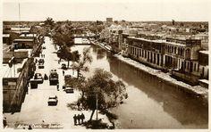 البصرة - نهرالعشار..( صورة توثيقية رائعة الجمال تعود الى الخمسينات )  * اضغط على الصورة للتمتع بتفاصيلها ..... IRAQ- BASRAH,  Ashar Creek1950s