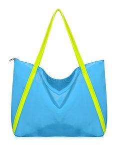 Lovely Light Sky Blue Nylon Women's Neon Color Bag by Milanoo