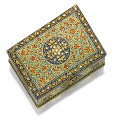 Gold, enamel, gem set and diamond box, possibly Jaipur, Northern India, 19th century   lot   Sotheby's