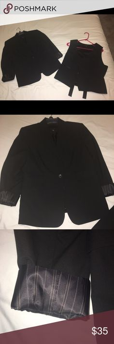 Limited Black Suit Essentials Limited Black Suit Essentials; Jacket = 10; Vest = L; These Limited Suit Essentials are closet staple pieces. Very gently used (2 times max to interviews). In fabulous condition. The Limited Other