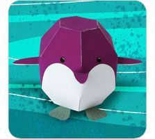 3d penguin paper toy free build a 3d skipper out of paper 3301