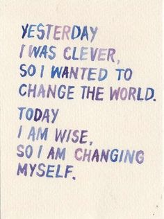Yup. I can only change myself. I can only change what I am doing wrong.