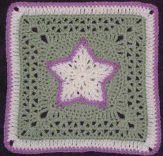 YarnCrazy crochet world: Star Overlay - granny square Granny Squares, Crochet Squares Afghan, Granny Square Crochet Pattern, Crochet Blocks, Crochet Motif, Crochet Stitches, Free Crochet, Crochet Patterns, Grannies Crochet