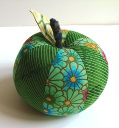 sewn green apple