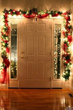 Inside front door during the Holidays!