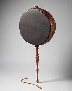 Rnga (Lag-Rnga) 18th century | Tibet | Tibetan | Wood, paint, lacquer, hide | H.: 140 cm (55 in.); D.: 22 cm (8-3/4 in.) ; Diam.: 62 cm (14-1/2 in.) | Membranophone-double-headed / frame drum