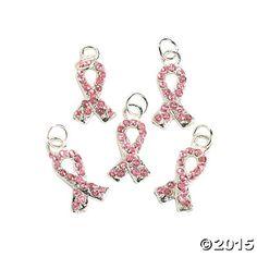 Enamel Pink Ribbon Charm  20mm  OrientalTradingcom  kims
