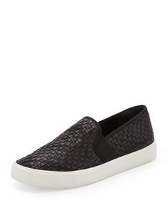 Vince Preston Woven Leather Slip-On #want