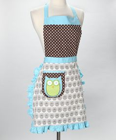 Take a look at this Whim Hoot Stuff Apron - Adult by An Owl a Day Collection on #zulily today!