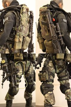 My first Kitbash - Modern Warfare (beware 16 images) - OSW: One Sixth Warrior Forum Tactical Armor, Tactical Survival, Survival Gear, Modern Warfare, Military Action Figures, Tactical Equipment, Tactical Supply, Airsoft Gear, Military Guns