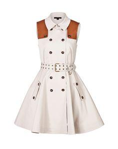 Rachel Zoe Stretch Cotton Trench Dress
