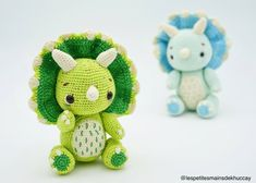 Kyo The Baby Triceratops Amigurumi Pattern Crochet Dragon Pattern, Crochet Patterns Amigurumi, Amigurumi Doll, Crochet Dolls, Crochet Dinosaur, Cute Dinosaur, Dinosaur Pattern, How To Make Toys, How Train Your Dragon