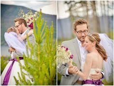 Grand Lake Colorado Mountain Wedding #getting ready #grandlake #colorado #wedding #bride #groom #weddingday #realwedding #butterflywedding #purple #purplebutterfly #weddingphotography #creativeweddingphotos #funweddingphotos #mountainwedding #coloradowedding #weddingphotos #weddingphotoideas