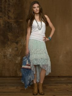 Ruffled Wrap Skirt  Price: $98.00