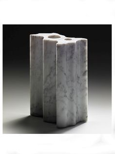 Angelo Mangiarotti; Marble 'Variazioni' Vase for Henraux, 1971.