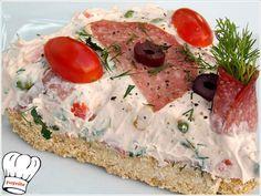 CHEESECAKE ΑΛΜΥΡΟ!!! - Νόστιμες συνταγές της Γωγώς! The Kitchen Food Network, Cheesecake, Antipasto, Food Network Recipes, Hummus, Camembert Cheese, Salads, Tasty, Bread