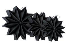 Pleat Stars - Black by all things paper, via Flickr