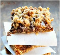 Bunny's Warm Oven....Buttery oats, semi sweet and milk chocolate, caramel and pecans make a delicious bar!