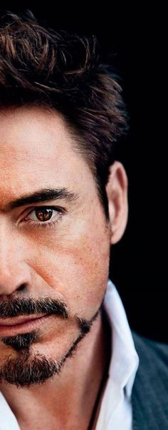 His beautiful brown eyes (well, one of them at least) ~ Robert Downey Jr. At this point, I should probably just have a Robert Downey Jr board. Robert Downey Jr., Iron Man, Beautiful Brown Eyes, Gorgeous Men, Downey Junior, Belle Photo, Eye Candy, How To Look Better, Handsome