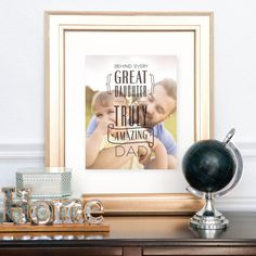 """See what our awesome client had to say about  our custom photo art Fathers Day Gift! """" Was a great fathers day gift and they were so great with editing. I was a little picky and sent the edit back a couple times and they were quick and willing to change anything. I even customized my own saying"""""""