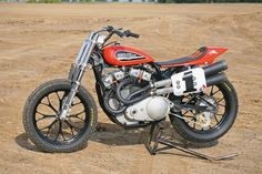 Best classic cars and more! Sportster Scrambler, Harley Scrambler, Harley Bobber, Harley Davidson History, Harley Davidson Street, Harley Davidson Motorcycles, Flat Track Motorcycle, Flat Track Racing, American Motorcycles