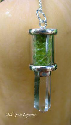 Peridot Vial Pendulum