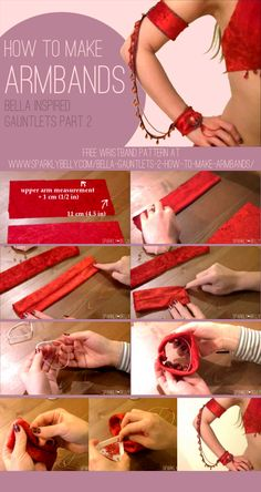 Bella inspired Gauntlets Part 2: How to Make Armbands - SPARKLY BELLY