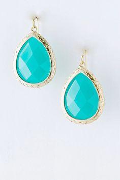 Turquoise Teardrop Earrings   housewivesjewelry.com   promo code: SHIPFORFREE #RealHousewives #HousewivesJewelry #TeardropEarrings