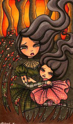 The Runaways by Regs on DeviantArt Gothic Fairy, The Power Of Love, Dark Gothic, Running Away, Dark Art, Art Girl, Bowser, Fantasy Art, Cool Art