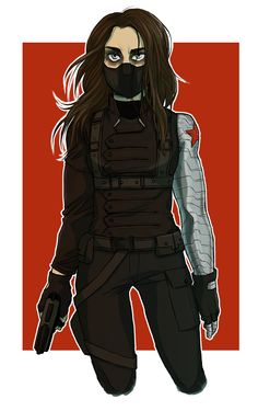 optimysticals: hmasfatty: felixandria: winter soldier versions, as promised now with more sam wilson! Winter soldier genderbend!