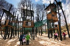 New German Playground....they would create one that looks like watch towers.