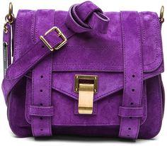 Proenza Schouler Purple Ps1 Pouch Suede
