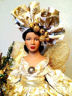 African American Christmas Queen by DivineAngelShop on Etsy, $69.00