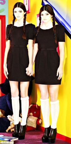 Kendal and kylie Jenner in Adams family themed photo shoot!