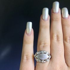 Rhodochrosite Marquise Shape Gemstone Stylish Ring - 925 Sterling Silver Handmade Designer Jewelry Ring Size US - - Custom Jewelry Ideas Ring Shapes, Diamond Shapes, Stylish Rings, Right Hand Rings, Signet Ring, Stone Rings, White Gold Diamonds, Handmade Silver, Custom Jewelry
