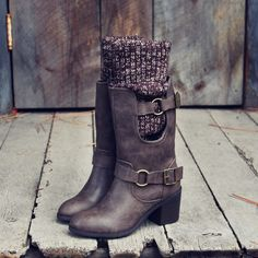 Laurel & Arrow Sweater Boots, Sweet & rugged sweater boots from Spool No.72 | Spool No.72