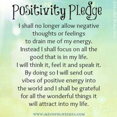 what a great pledge to make to yourself.