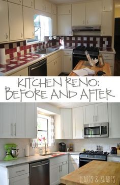 Another Home Reno:  Before and After | http://heartsandsharts.com/another-home-reno-before-and-after/