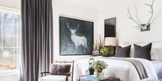 Elle Decor, Memphis, White Room Decor, Gray Decor, Black Decor, Ideas Vintage, Black Rooms, Black Walls, Decor Inspiration