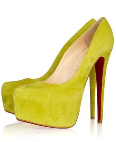 Christian Louboutin Daffodil 160 Suede Platform Pumps Yellow