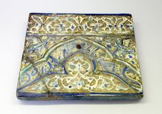Mihrab Tile, 13th-14th century. Pottery, 9 7/16 x 11/16 x 10 3/16 in. (24 x 1.8 x 25.8 cm). Brooklyn Museum, Gift of Mrs. Horace Havemeyer, 42.212.21. Creative Commons-BY (Photo: Brooklyn Museum, CUR.42.212.21.jpg)