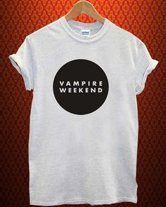 logo di vampire weekend musica tee Ash Grey t Shirt uomo e donna T Shirt più dimensioni disponibili