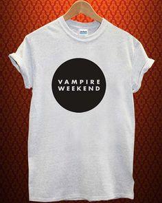 logo di vampire weekend musica tee Ash Grey t Shirt uomo e donna T Shirt più dimensioni disponibili