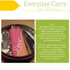 Everyday carry is usually shorten to EDC. This post is all about EDC for Women. What you carry everyday could help you in an emergency. See the list now!
