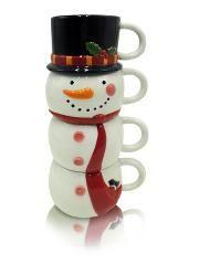 George Home Snowman Mug Stack Snowman Mugs Christmas Plates Mugs