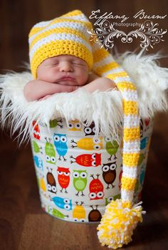 Retro Bermuda Owl Galvanized Beach Bucket Newborn Baby Photo Prop
